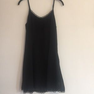Lucca Couture little black slip dress